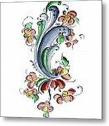 Scandinavian Flower I Metal Print