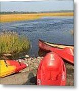 Scarborough Marsh Kayaks Maine Metal Print