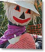 Scarecrow Andy Metal Print