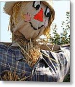 Scarecrow Farmer Metal Print