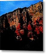 Scarlet Cliffs Metal Print