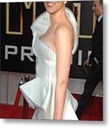 Scarlett Johansson Wearing An Armani Metal Print
