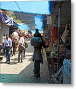 Scene At The Climbing Path Leading To The Vaishno Devi Shrine In Jammu And Kashmir State In India Metal Print