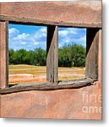 Scene From A Priests Window Metal Print