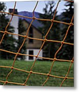 Scene Through A Volley Ball Court 2 Metal Print