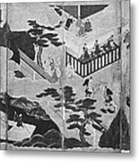 Scenes From The Tale Of Genji Metal Print