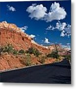 Scenic Drive Through Capitol Reef National Park Metal Print