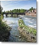 Scenic Landscape With Old Dee Bridge Metal Print