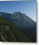 Scenic Overlook In Glacier National Metal Print