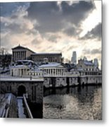 Scenic Philadelphia Winter Metal Print