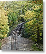 Scenic Railway Tracks Metal Print