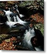 Scenic View Of A Waterfall On Smith Metal Print
