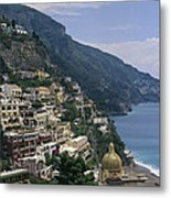 Scenic View Of The Beach And Hillside Metal Print