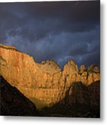 Scenic View Of Zion National Park Metal Print