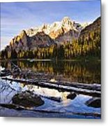 Schaffer Lake And Mount Huber Metal Print