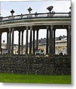 Schloss Sanssouci Gardens Metal Print
