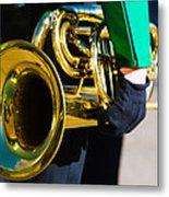 School Band Horn Metal Print