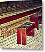 School House Benched And Dusted Metal Print