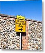 School Parking Sign Metal Print