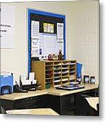 School Teachers Desk Metal Print