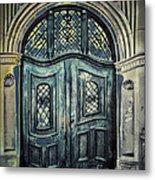Schoolhouse Entrance Metal Print by Jutta Maria Pusl