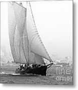 Schooner By The Bay Metal Print by Patty Descalzi
