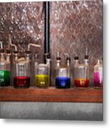 Science - Chemist - Glassware For Couples Metal Print