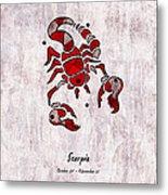 Scorpio Artwork Metal Print