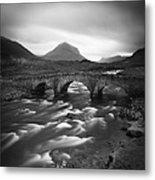 Scotland Sligachan River Metal Print by Nina Papiorek