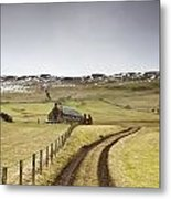 Scottish Borders, Scotland Tire Tracks Metal Print by John Short