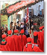 Scouts Parade In Bethlehem At Star Street Metal Print