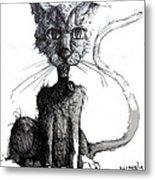 Scraggly Vampire Kiittie Metal Print by Neal Cormier