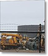 Scrapyard Machinery Metal Print
