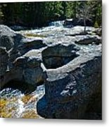 Screw Auger Falls Top 3 Metal Print