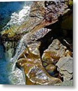 Screw Auger Sparkle Metal Print