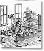 Screw-making Machine Metal Print