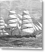 Screw Steamship, 1864 Metal Print