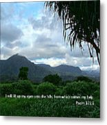 Scripture And Picture Psalm 121 1 Metal Print