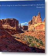 Scripture And Picture Romans 8 37  Metal Print by Ken Smith