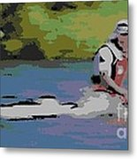 Sculling For The Win Metal Print