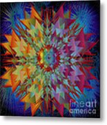 Sculpted Flower Metal Print
