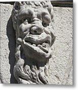 Sculpture Of A Deformed Human Head Metal Print