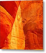 Sculptured By The Wind Metal Print