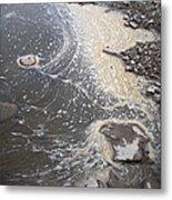 Sea Foam And Algae Metal Print