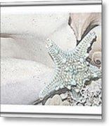 Sea Foam In Pastels Metal Print