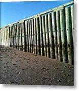 Sea Green Pier Metal Print