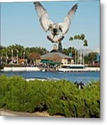 Sea Gull With Full Flaps Metal Print