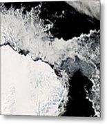 Sea Ice In The Southern Ocean Metal Print