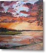 Sea Island Sunset Metal Print