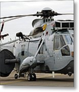 Sea King Helicopter Of The Royal Navy Metal Print